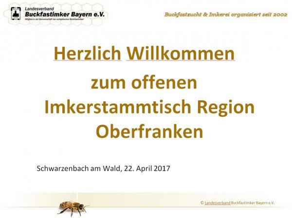 Bericht zum offenen Imkerstammtisch Oberfranken