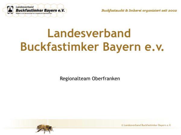Internet-Seite des Regionalteams Oberfranken